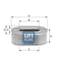 Воздушный фильтр UFI 2770500