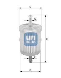 Фильтр топливный UFI 31.010.00