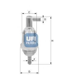 Фильтр топливный UFI 3101300