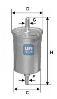 Фильтр топливный UFI 3171800