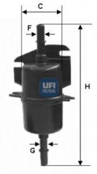 Фильтр топливный UFI 31.740.00