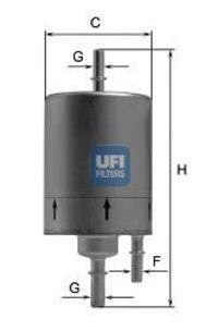 Фильтр топливный UFI 31.831.00