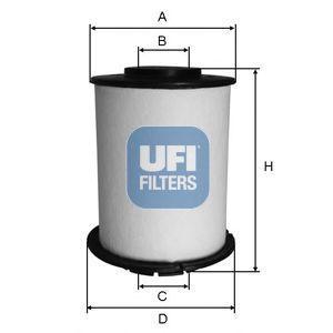 Фильтр топливный UFI 26.033.00