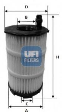 Фильтр масляный UFI 2514300