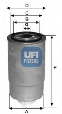 Фильтр топливный UFI 24.529.00