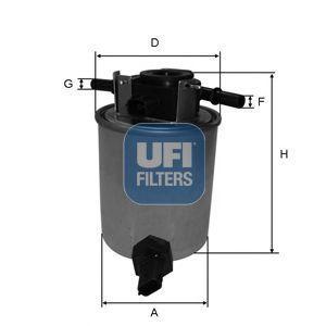 Фильтр топливный UFI 2402001