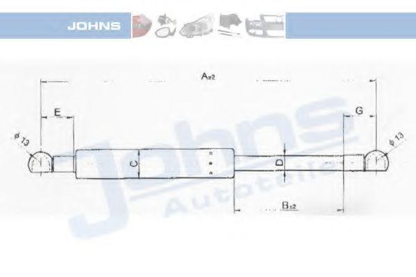 Газовая пружина, крышка багажник JOHNS 55539592