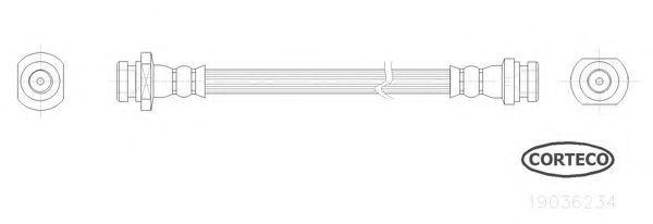 Шланг тормозной CORTECO 19036234