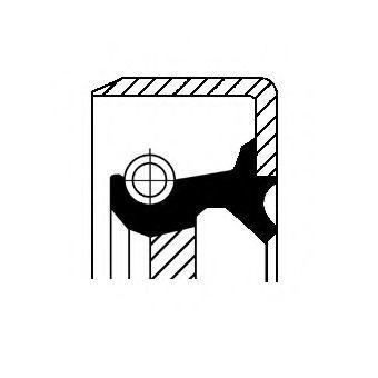 Купить Сальник ступицы CORTECO 07016736B