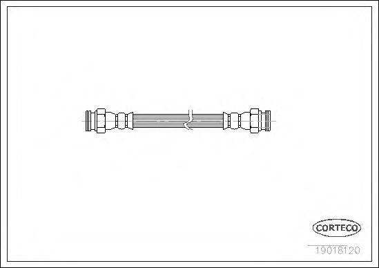Шланг тормозной CORTECO 19018120