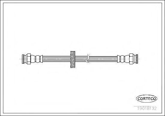 Шланг тормозной CORTECO 19018132