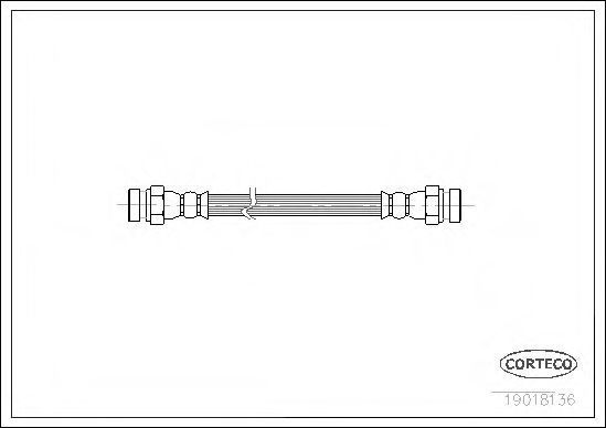 Тормозной шланг CORTECO 19018136