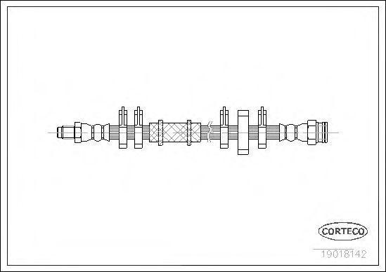 Тормозной шланг CORTECO 19018142