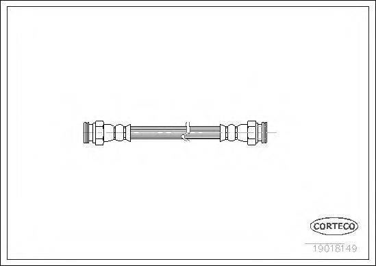 Шланг тормозной CORTECO 19018149