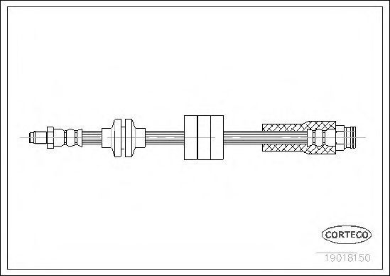 Шланг тормозной CORTECO 19018150