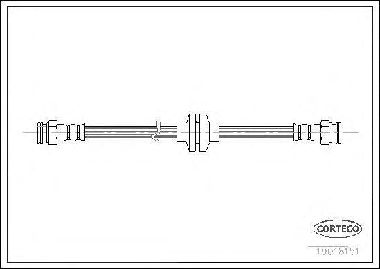 Шланг тормозной CORTECO 19018151