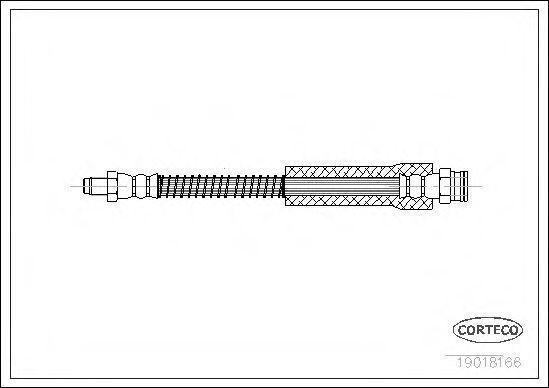 Шланг тормозной CORTECO 19018166