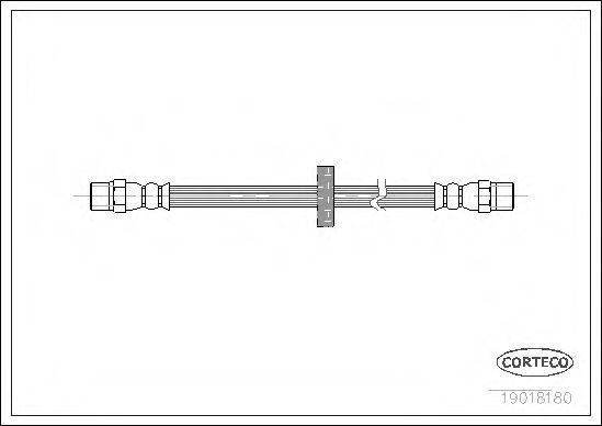 Шланг тормозной CORTECO 19018180