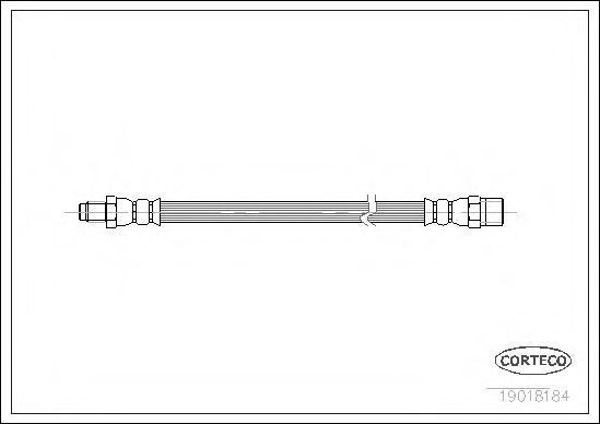 Купить Шланг тормозной CORTECO 19018184