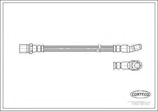 Шланг тормозной CORTECO 19018197