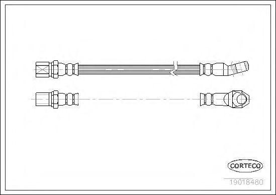 Шланг тормозной CORTECO 19018480