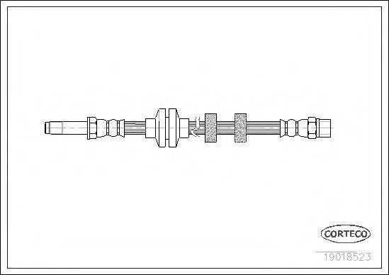 Шланг тормозной CORTECO 19018523
