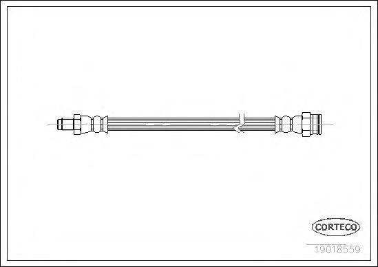 Шланг тормозной CORTECO 19018559
