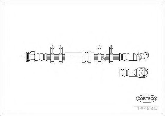 Шланг тормозной CORTECO 19018580