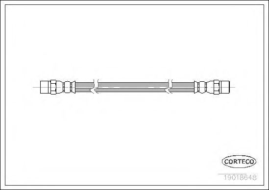 Шланг тормозной CORTECO 19018648