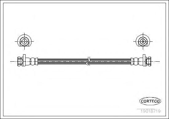 Шланг тормозной CORTECO 19018719