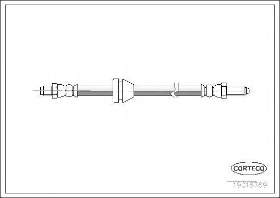 Шланг тормозной CORTECO 19018769