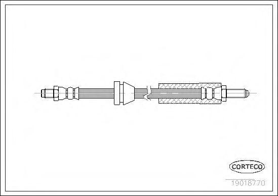 Шланг тормозной CORTECO 19018770