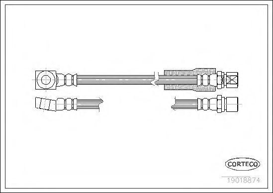 Шланг тормозной CORTECO 19018874