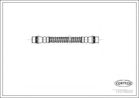 Шланг тормозной CORTECO 19018889