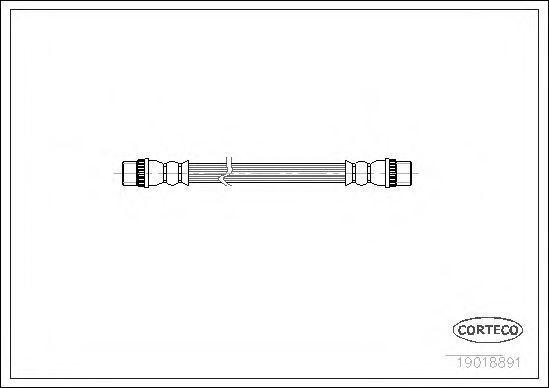 Шланг тормозной CORTECO 19018891