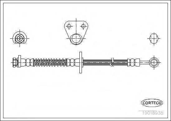 Шланг тормозной CORTECO 19018938