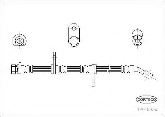 Шланг тормозной CORTECO 19018939