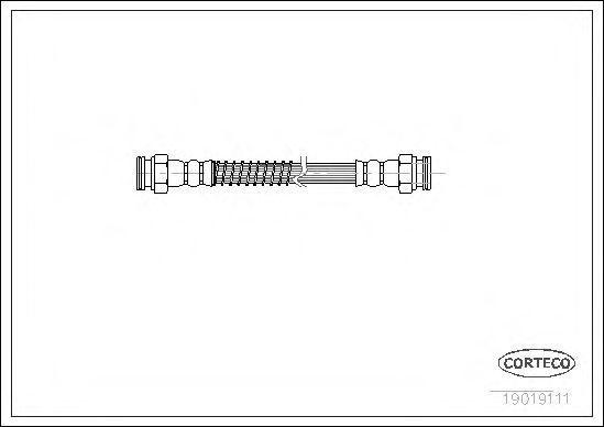 Шланг тормозной CORTECO 19019111