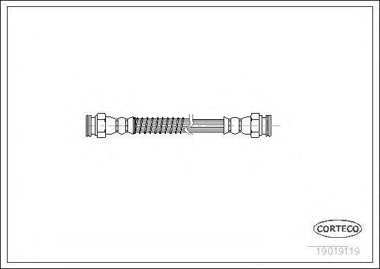Шланг тормозной CORTECO 19019119