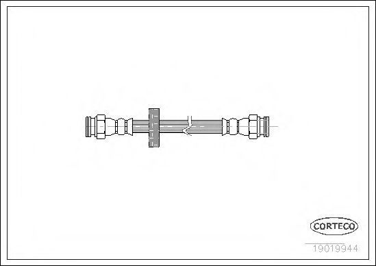 Шланг тормозной CORTECO 19019944