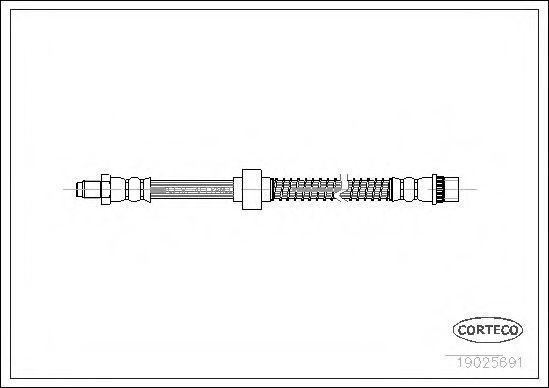 Шланг тормозной CORTECO 19025691