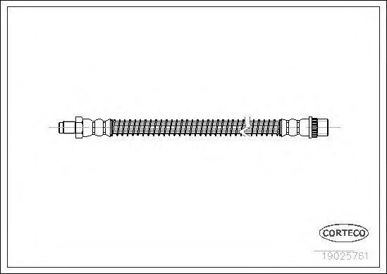 Шланг тормозной CORTECO 19025761