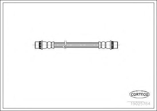 Шланг тормозной CORTECO 19025764