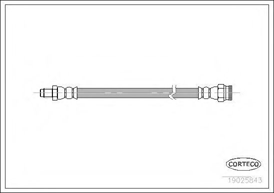 Шланг тормозной CORTECO 19025843
