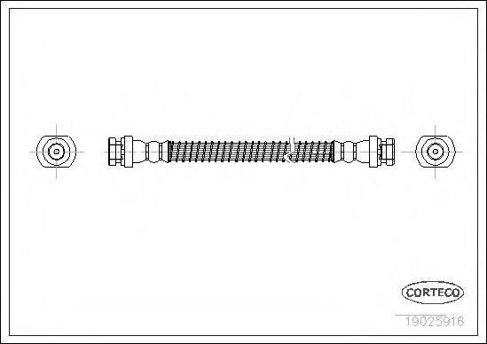 Тормозной шланг CORTECO 19025916