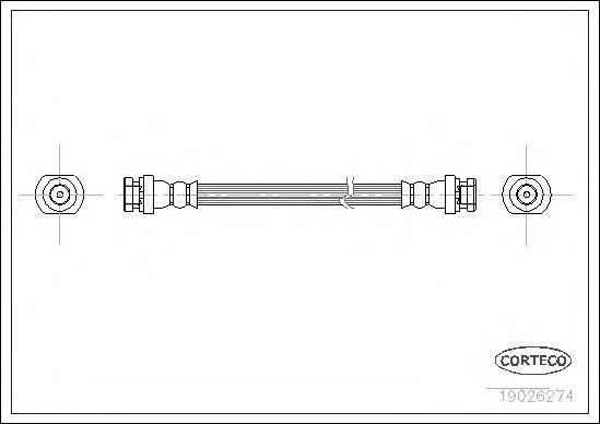 Шланг тормозной CORTECO 19026274