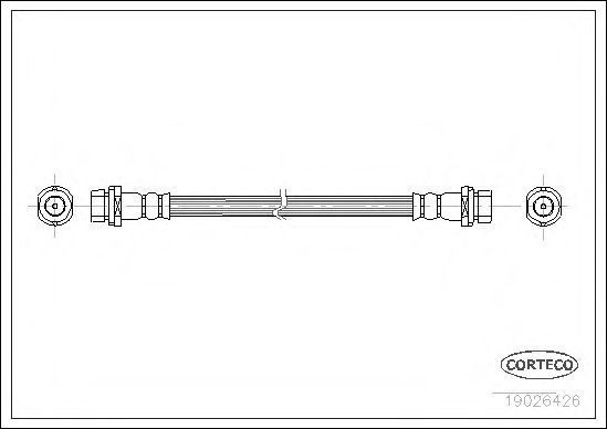Шланг тормозной CORTECO 19026426