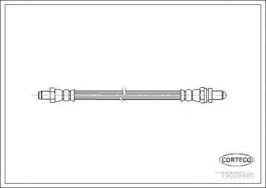 Шланг тормозной CORTECO 19026485