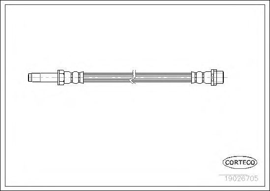 Купить Шланг тормозной CORTECO 19026705