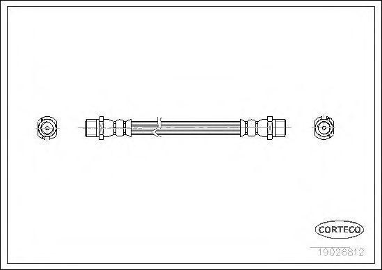 Шланг тормозной CORTECO 19026812